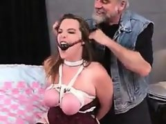 Chubby girl tied up and banged