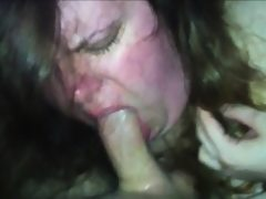 Very horny fat girl sucks a guy's dick