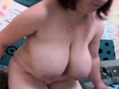 Chubby webcam girl showing white tits