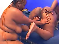 Moaning chubby black girls strapon sex