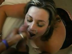 2 cumshots are taken by wife towards..