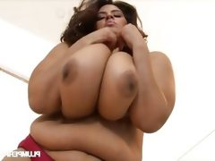 Horny bbw sofia sucking two cocks
