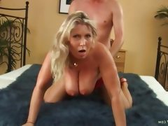 Mature blonde sandy gets nailed