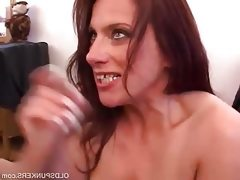 Gorgeous mature babe loves sucking cock