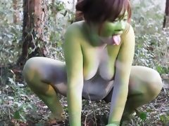 Stark naked japanese fat frog lady in..