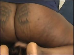 Ebony ass smother facesitting