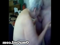 Old woman have a wank big dick by..