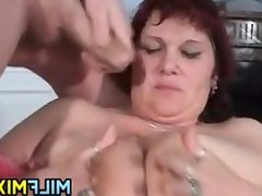 Dirty russian mother having sex