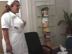 Horny nurse giving a nice treatment to..