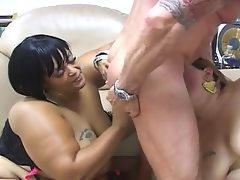 Three nasty fat bitches cock sucking..