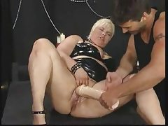 German bbw fist and squirt