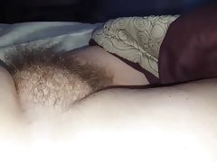Rubbing the wifes sexy soft hairy..