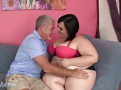 Chubby beauty alexxxis allure gets..